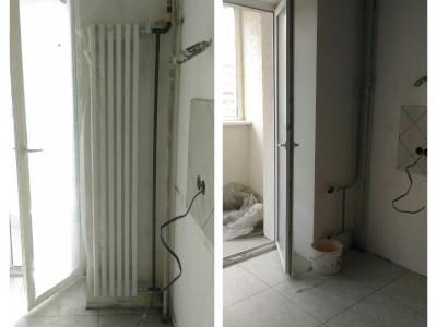 установка дизайнерского радиатора
